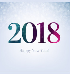 2018 happy new year card vector image