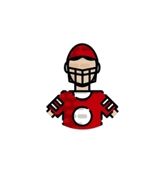 American football flat icon vector image