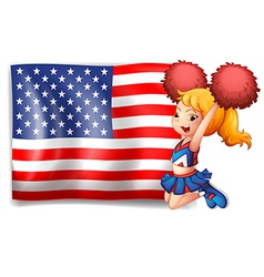 An energetic cheerer from the USA vector image
