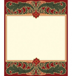 arts and crafts frame vector image vector image