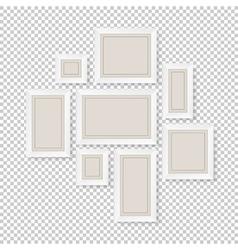 group of white frames vector image