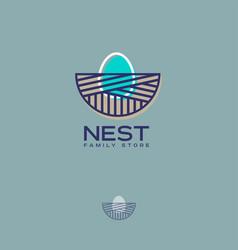 nest logo family store egg vector image