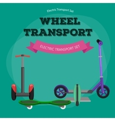 Set of one-wheeled and two-wheeled Self-balancing vector image vector image