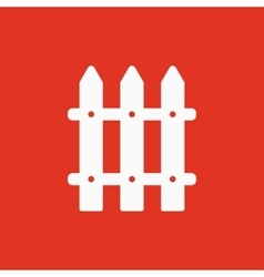 The fence icon Paling symbol Flat vector image