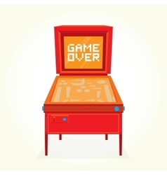 Game over retro pinball machine vector image