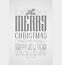hand lettering christmas poster vector image vector image