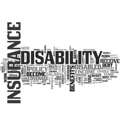 why should you get disability insurance text word vector image