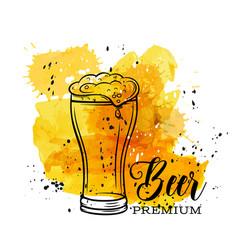 poster beer mugs vector image