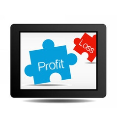 profit and loss vector image vector image