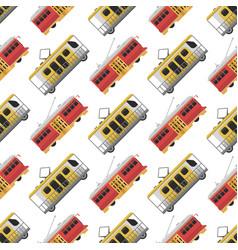 city transport public industry tram seamless vector image