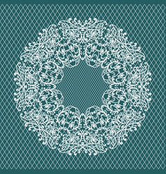 lace invitation card wedding or greeting card vector image vector image