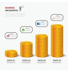money business plan infographic flat design vector image vector image