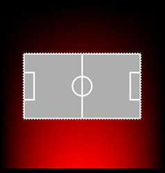 soccer field style on vector image