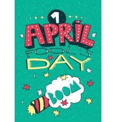 1 April Fools Day greeting card vector