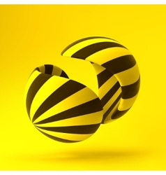 3D abstract template vector image