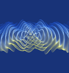 3d wavy background ripple effect 3d grid surface vector