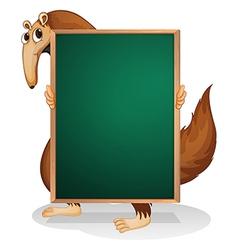 A kangaroo holding an empty board vector