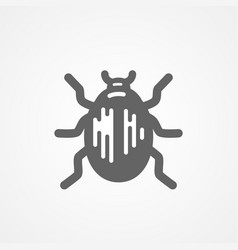 Abstract beetle black and white icon vector