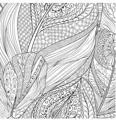 Abstract line seamless pattern ornamental ethnic vector