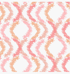 abstract pastel pattern with pink scribble waves vector image