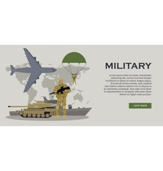 Armed Forces Concept in Flat Design vector image