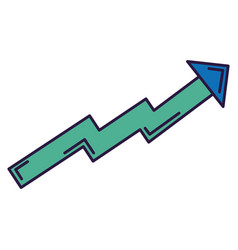 arrow of growth icon vector image