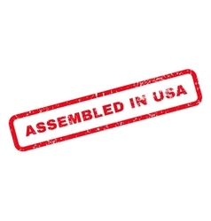 Assembled In USA Text Rubber Stamp vector