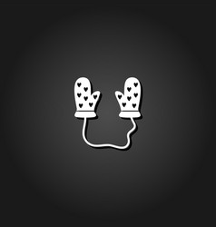 baby gloves icon flat vector image