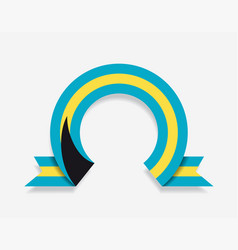 bahamas flag rounded abstract background vector image