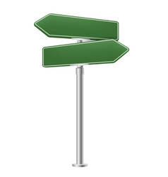 blank street sign isolated white background vector image