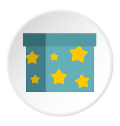 Box to perform tricks icon circle vector