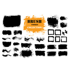 Brush strokes text boxes vector