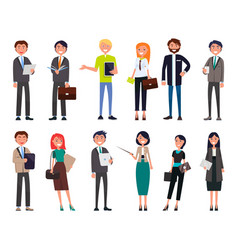 businesspeople elegant expensive suits successful vector image