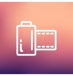 Camera film roll thin line icon vector