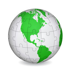 Cartographic puzzle of america vector