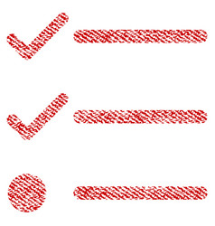 checklist fabric textured icon vector image