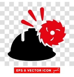 Circular Blade Head Protection Eps Icon vector image