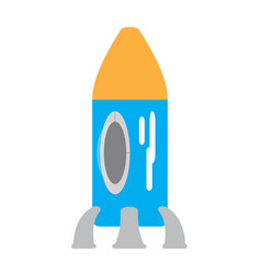 colored rocket ship toy icon vector image