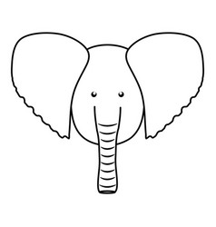 cute elephant woodland animal character vector image
