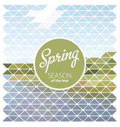 design template spring season poster vector image