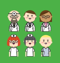 doctor and nurse icon vector image