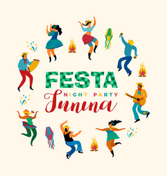 festa junina template vector image
