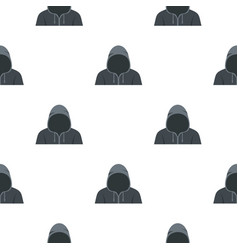 figure in a hoodie pattern seamless vector image
