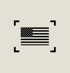 flag america in focus in flat style vector image