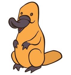 funny cute cartoon platypus vector image