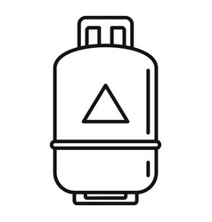 Gas cylinder propane icon outline style vector