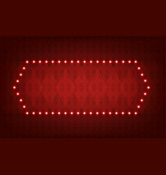 Glowing lights frame for advertising design vector