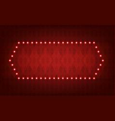 glowing lights frame for advertising design vector image