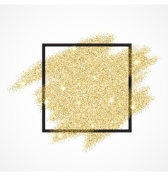 Gold blur glitter background in frame vector image