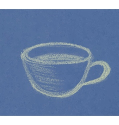 green cup on blue vector image